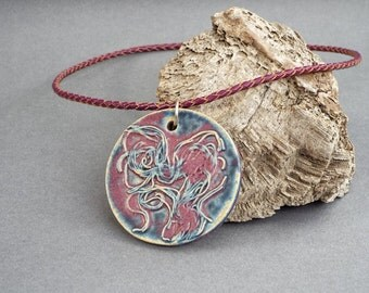 Ceramic Necklace, Ceramic Jewelry, Girlfriend Gift, Statement Jewelry, Gift for Her, Boho Jewelry