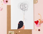 Scratch Off Will You Be My Flower Girl - Will You Be My Maid Of Honor - Scratch Off Balloon - Wavy Hair Black
