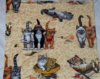 Kittens at the Beach! Refillable Catnip Mat