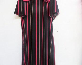 80's stripe dress with bow