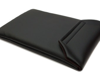 MacBook Air 11 Case Laptop Sleeve for MacBook Air 11 inch - Black Faux Leather