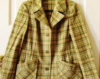 Vintage Pendleton Plaid Jacket, S - M