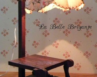 Vintage standing lamp for larger scale dollhouse