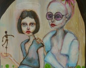 painting, original, art, figures, contemporary