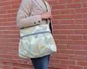 40% off SALE Stella Diaper Bag Medium Optic Blossom and Grey - READY to SHIP