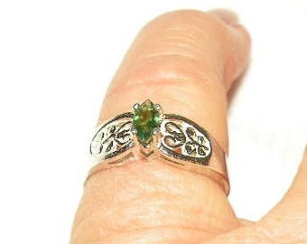 Dainty Marquise Emerald Ring