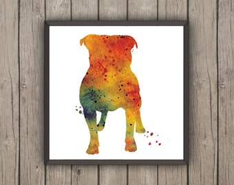 English Bulldog, TWO Watercolor Prints, Children's Wall, Art Home Decor, dog watercolor,watercolor, English Bulldog ,animal watercolor