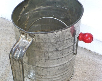 Bromwells Vintage Flour Sifter Retro Farmhouse Shabby Chic Modern Rustic KitchenHome Decor