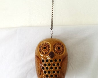 Vintage Mod Barn Owl Candle Holder Hanger