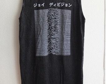 Unknown Computer Wave Post Punk stone wash hippie rock t-shirt tassel dress