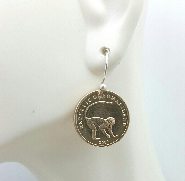monkey earrings coin earrings year of the monkey