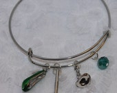 Elphaba Inspired Expandable Wired Bracelet Wicked Witch Hat Broom Shoe Emerald City