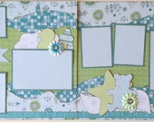 Sweet Baby Premade 2 Page 12x12 Scrapbook Layout