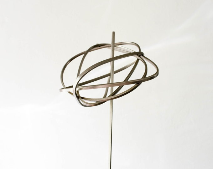 Mid Century Modernist Aluminum Abstract Art Sculpture // Scandinavian Minimalist Home Decor