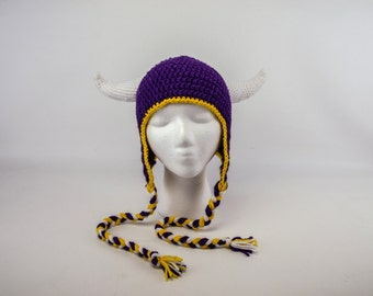 Hand Crochet Vikings Hat: Made to Order in any Size