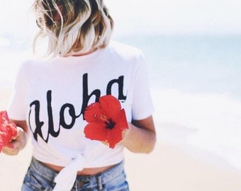 Aloha Tee, Off Shoulder Top, Hipster Tee, Oversized Sweatshirt, Slouchy Shirt, Gifts for Her, Off The Shoulder, Oversized Shirt, Hipster