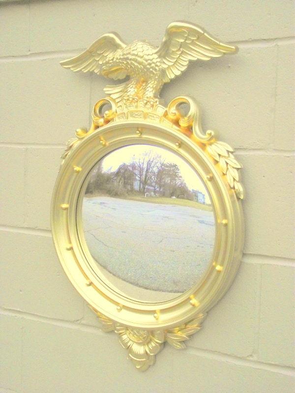 Gold Federal Bulls Eye Mirror With Eagle X Large 29 X