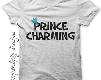 Prince Charming Iron on Transfer - Fairy Tale Iron on Shirt / Kids Boys Clothing Tshirt / Toddler Shirt Design / Cute Baby Clothes IT266