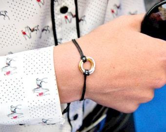 Silver Infinity Bracelet, Silver Infinity Cord Bracelet, Circle Bracelet, Chainmaille Bracelet, Chainmail Bracelet, Urban, Minimalist