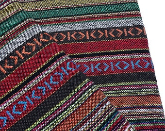 Thai Woven Cotton Fabric Tribal Fabric Native Fabric by the yard Ethnic fabric Aztec fabric Craft Supplies Woven Textile 1/2 yard (WF120)