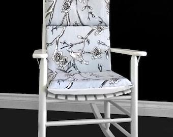Rocking Chair Cushion - Dwell Studio Vintage Blossom Dove