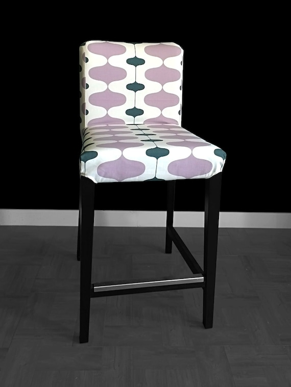 sale pair of ikea henriksdal bar stool chair covers ivon. Black Bedroom Furniture Sets. Home Design Ideas