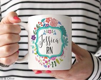 Personalized Nurse Mugs Nurse Mugs RN Mug Nurse Appreciation Gift Nurse Graduation Gift Nurse Gift Registered Nurse Gift RN Nurse Cup N0002