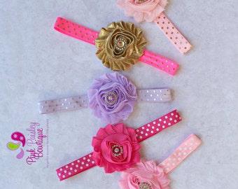 Baby Headband - You Pick 1 Polka Dot Headband-Baby Hairbow Headband - Infant Headbands - Newborn Headbands - Baby Hair Accessories Baby Bows