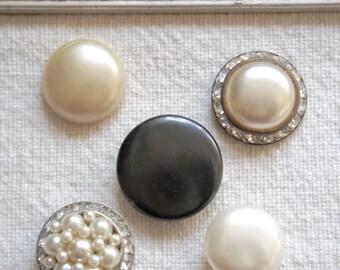 Satin Shimmer-Push pins, decorative thumb tacks, vintage jewelry push pins, thumb tacks, push pins, thumb tack set by My Sweet Maison.