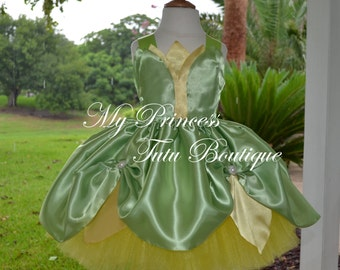 Princess Tiana Tutu Dress, Princess Tiana Birthday Dress, Tiana Tutu Dress, Tiana Birthday, Tiana Birthday Outfit.