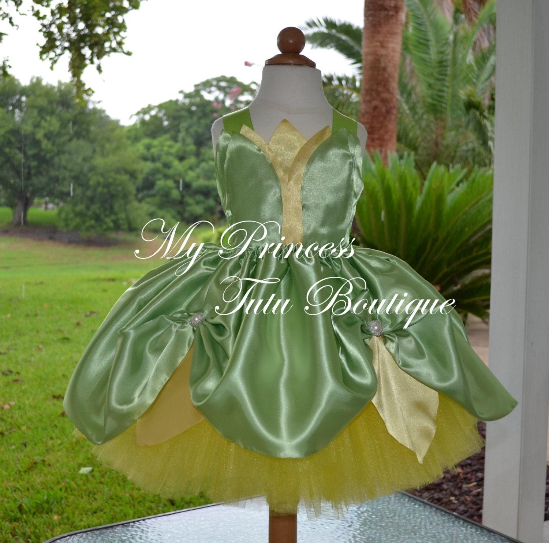 Princess Tiana Dress: Princess Tiana Tutu Dress Princess Tiana Birthday Dress