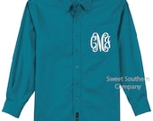 Set of 6 Bride and Bridesmaids Button Down Shirts - Monogrammed Oversized Wedding Shirts