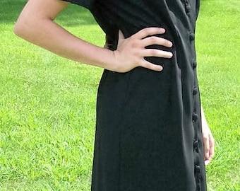 Vintage 80s Ladies Black Dress J Stevens by Carol Escritor Size 10 Only 7 USD