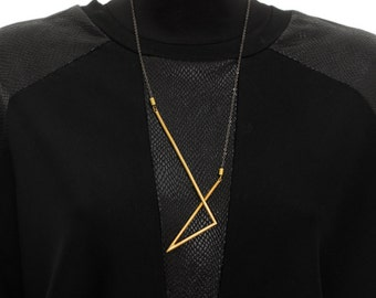 Infinity Necklace, Statement Necklace, Gold Necklace, Geometric Necklace, Necklaces For Women, NB022