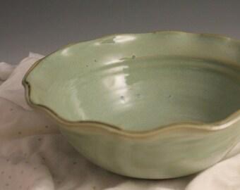 Pottery Bowl - Ceramic Bowl - Green bowl - North Carolina Pottery - stoneware - ready to ship