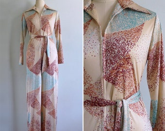 13% Off Code  SPOOKY13 - Vintage 70's LANVIN Saturday Night Fever Jumpsuit S or M
