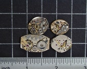 4 Vintage Watch Movements with Gears, Watch Parts for Jewelry Making, Mixed Media, Industrial Art, Crafts, Steampunk Art Supplies 04341