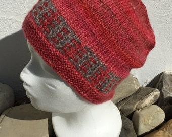 "Handspun Handknit Hat ""Bricklane"""