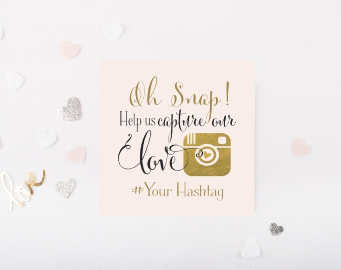 Instagram Wedding Sign | Personalized Square Upload or Printable for Instagram |  Quick Turnaround DIY Print