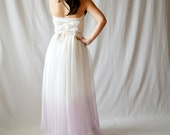 RESERVED - Ombre wedding dress, Dip dyed wedding dress, romantic wedding dress, fairy wedding dress, natural wedding dress