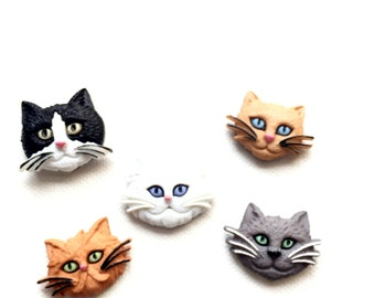 Cat Push Pins - Push Pins - Thumbtacks - Thumbtacks - Cork Board - Office Decor