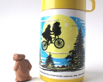 ET Thermos, Alien Figure, 1982, Extra Terrestrial, Space Man, Phone Home
