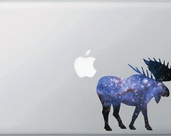 """CLR:MB - Cosmic Moose - Galaxy Guide - Vinyl Decal for Macbook 