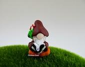 Tolin The Gnomeling ~~ Gardener Miniature Gnome ~ Scandivanian Style Gnome ~