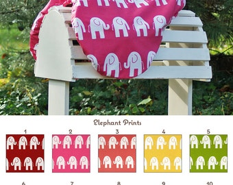 MADE TO ORDER Fleece Lined Elephants Saddle Cover Many Colors