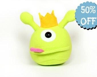 Black Friday Sale - Cyclops King Plush Toy, Monster Plush Toy, Monster Stuffed Toy, Monster Soft Toys,