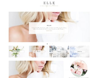 "Wordpress Theme, Wordpress Ecommerce Theme Responsive Blog Theme Design ""Elle"" - Genesis Website Theme"