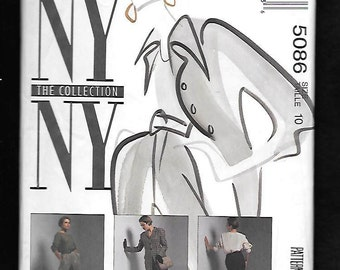 Vintage 1990's McCall's 5086 Misses' Lined Jacket, Top, Skirt And Pants, A New York New York Collection, Size 10, UNCUT