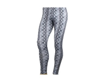 80's Heavy Hair Metal Glam Rock Snakeskin Stretch Pants Costume