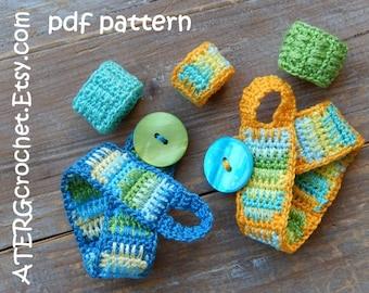 Crochet pattern BRACELET + 3 RINGS by ATERGcrochet